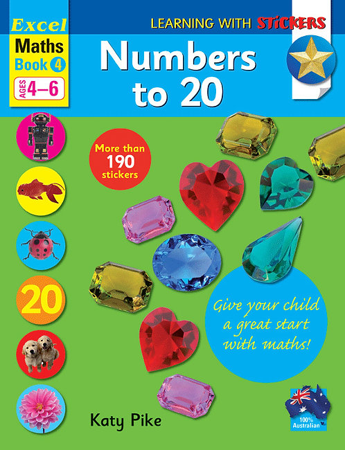 Excel Learning with Stickers Maths Book 4 School Skills–Numbers to 20