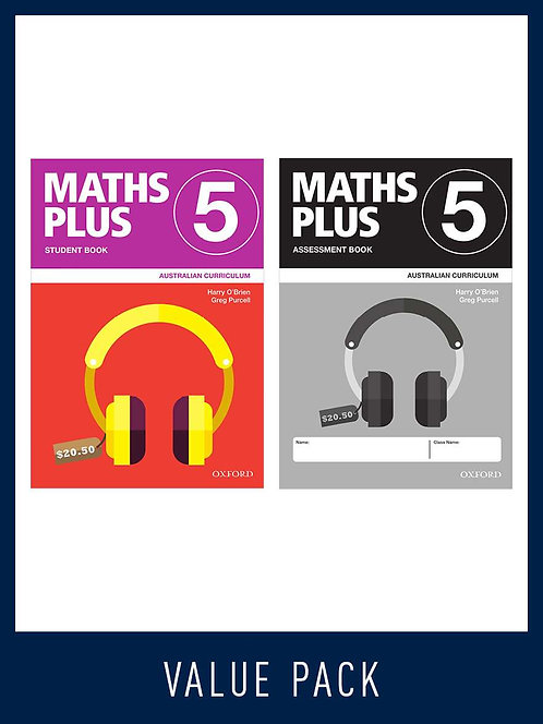 Maths Plus Australian Curriculum Student and Assessment Book 5 Value Pack 2020