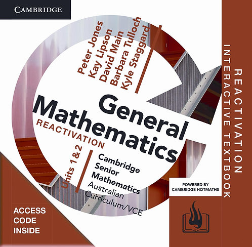 Cambridge Senior Maths: VCE General Mathematics Units 1&2 Reactivation Code