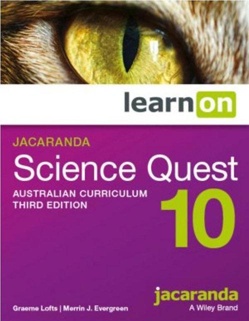 Jacaranda Science Quest 10 Australian Curriculum 3E LearnON (DIGITAL)