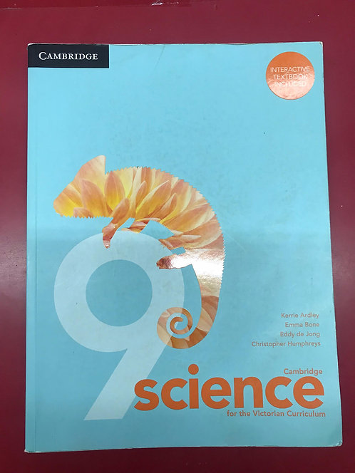 Cambridge Science for the Victorian Curriculum Year 9 (SECOND HAND)
