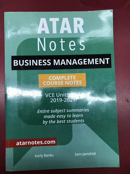ATARNotes Business Management Complete Course Notes Units 3&4 (SECOND HAND)