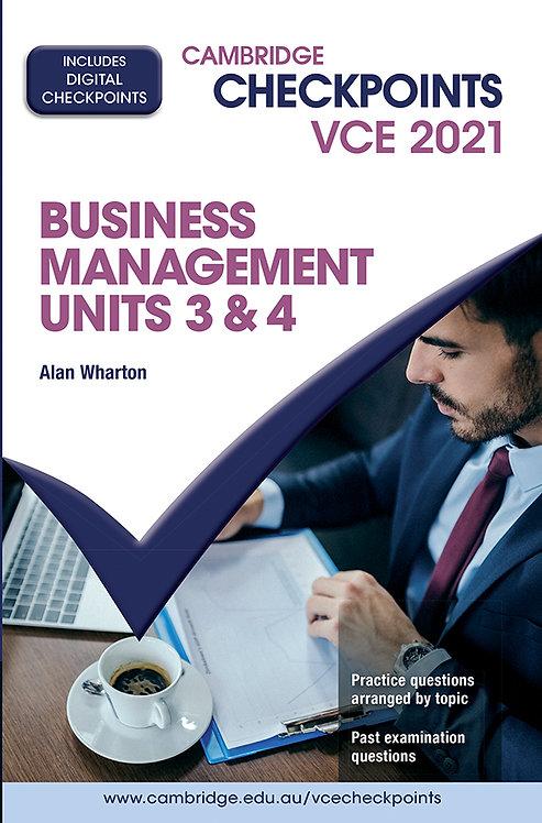 Cambridge Checkpoints VCE Business Management Units 3&4 2021