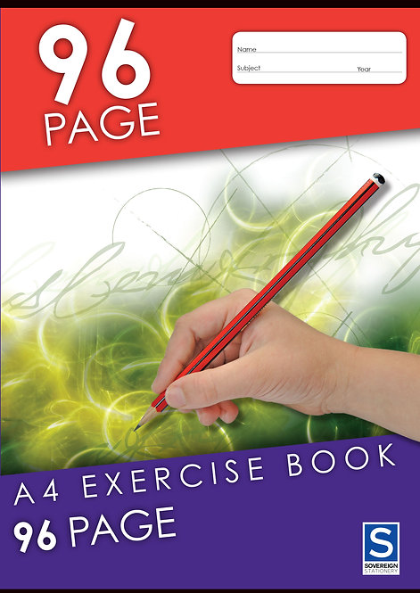 1x Exercise Book A4 8mm 96 Page