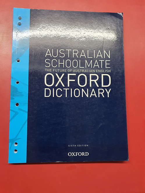 Australian Schoolmate Dictionary 6E (SECOND HAND)