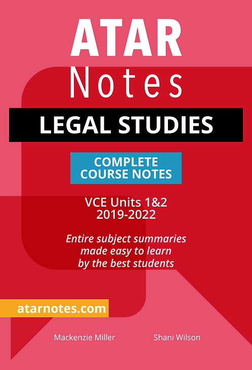 ATARNotes Legal Studies Complete Course Notes Units 1&2
