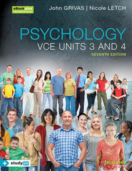 Jacaranda Psychology VCE Units 3&4 7E eBook + StudyOn (DIGITAL)