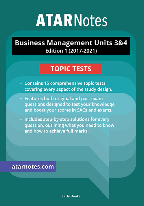 ATARNotes Business Management Topic Tests Units 3&4