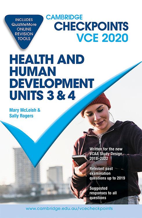 Cambridge Checkpoints VCE Health & Human Development Units 3&4 2020