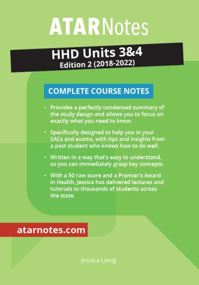 ATARNotes HHD Complete Course Notes Units 3&4 2E