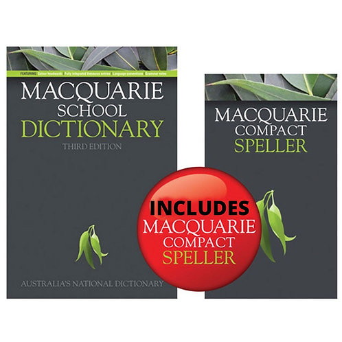 Macquarie School Dictionary 3E (Hardback) + Bonus Compact Speller