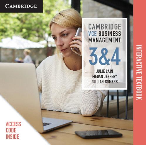 Cambridge VCE Business Management Units 3&4 (DIGITAL)
