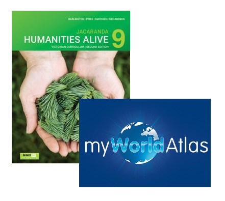 Humanities Alive 9 2E Victorian Curriculum + myWorld Atlas (DIGITAL)