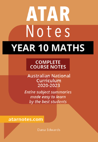 ATARNotes Year 10 Maths Complete Course Notes