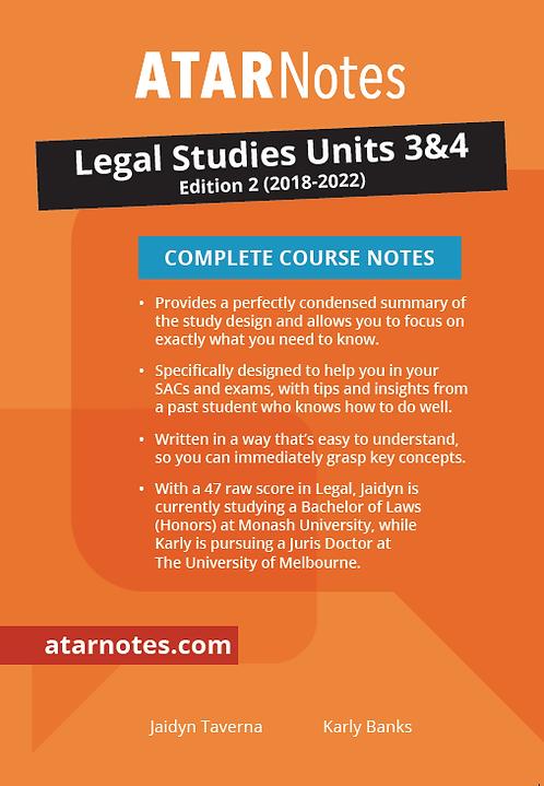 ATARNotes Legal Studies Complete Course Notes Units 3&4 2E