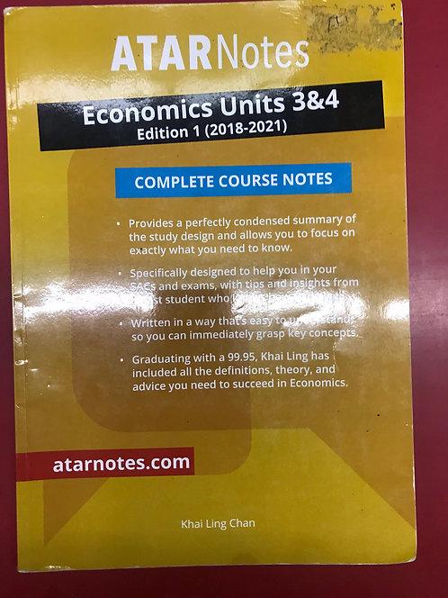 ATARNotes Economics Complete Course Notes Units 3&4