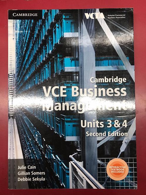 Cambridge VCE Business Management Units 3&4 2E (SECOND HAND)