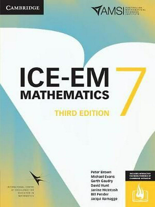 ICE-EM Mathematics Year 7 3E (PRINT + DIGITAL)
