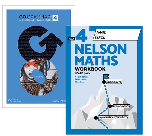 Go Grammar! and Nelson Maths 4 Student Workbook Pack