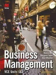 Business Management Units 1&2VCE 8E