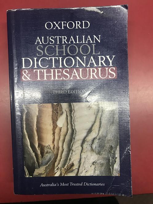 Oxford Australian School Dictionary/Thesaurus 3E (SECOND HAND)