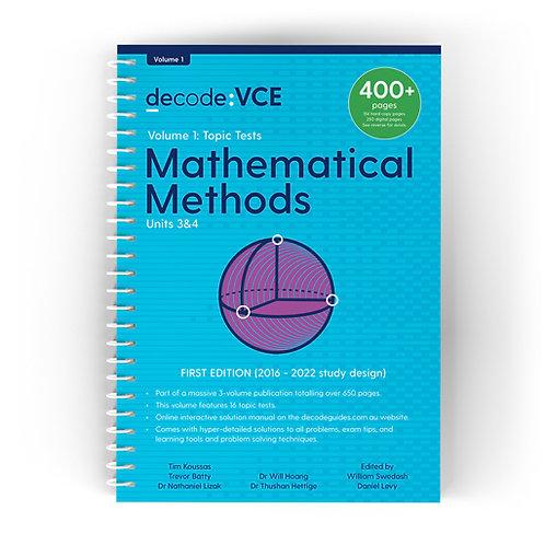 Decode: VCE Mathematical Methods Units 3&4 Volume 1