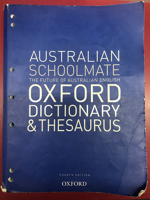 Australian Schoolmate Oxford Dictionary & Thesaurus 4E (SECOND HAND)