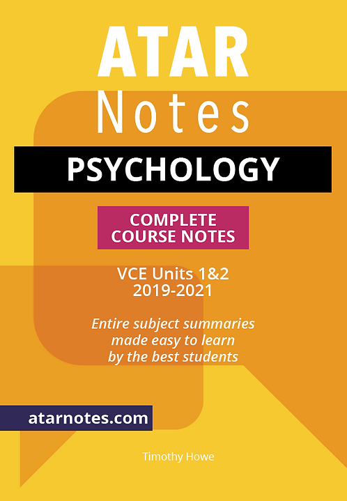 ATARNotes Psychology Complete Course Notes Units 1&2