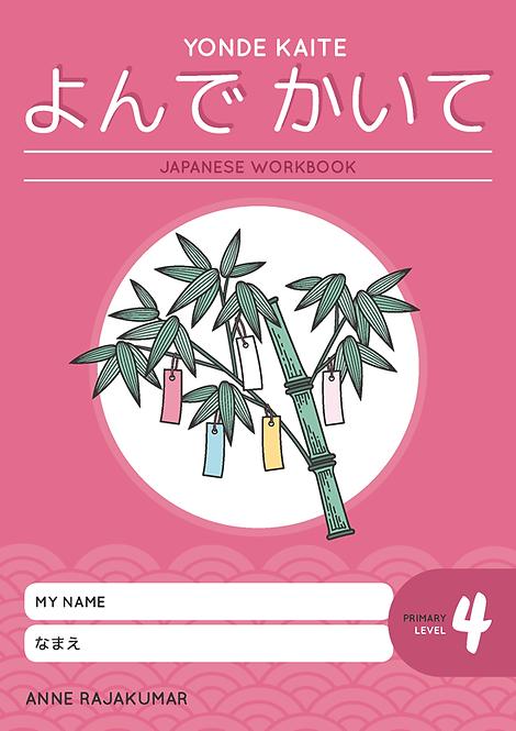 Yonde Kaite Japanese Workbook Primary Level 4