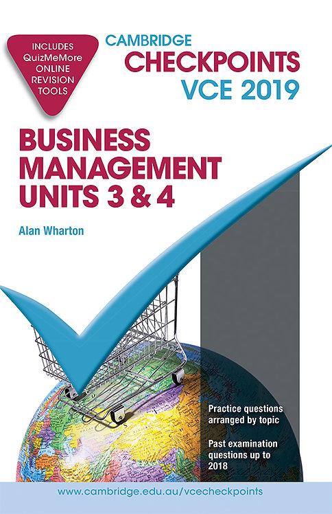 Cambridge Checkpoints VCE Business Management Units 3&4 2019