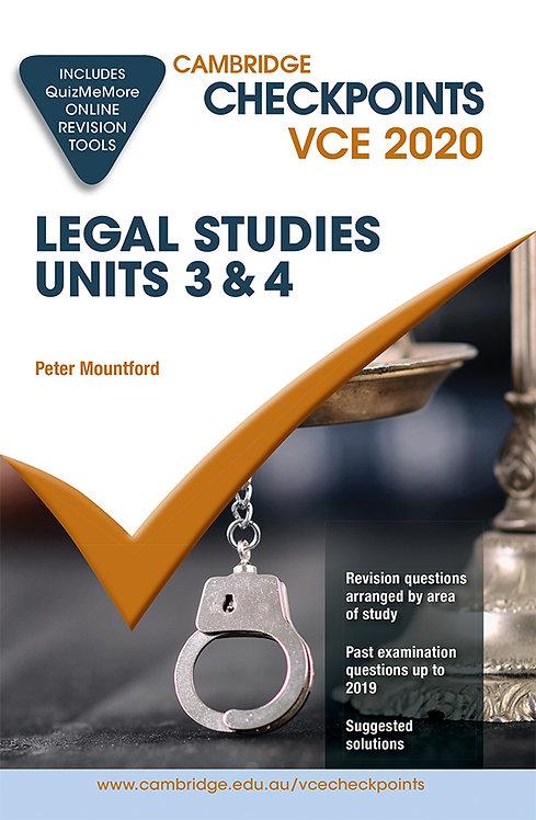 Cambridge Checkpoints VCE Legal Studes Units 3&4 2020