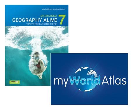 Jacaranda Geography Alive 7 2E Victorian Curriculum + Myworld Atlas (DIGITAL)