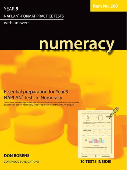 Numeracy Year 9 NAPLAN* Format Practice Tests #260