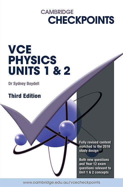 Cambridge Checkpoints VCE Physics Units 1&2 3E