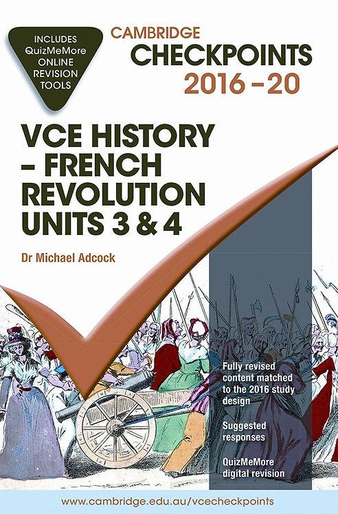 Cambridge Checkpoints VCE History - French Revolution Units 3&4