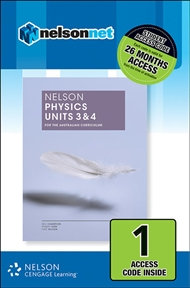 Nelson Physics Units 3&4 for the Australian Curriculum 1 Access Code (DIGITAL)