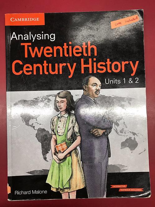 Analysing Twentieth Century History (SECOND HAND)