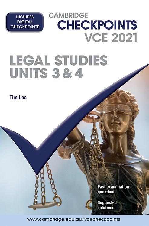 Cambridge Checkpoints VCE Legal Studies Units 3&4 2021