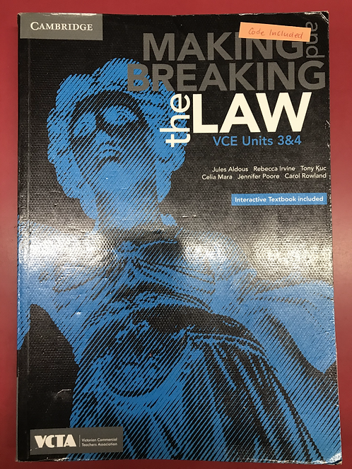 Cambridge Making and Breaking the Law VCE Units 3&4 (SECOND HAND)