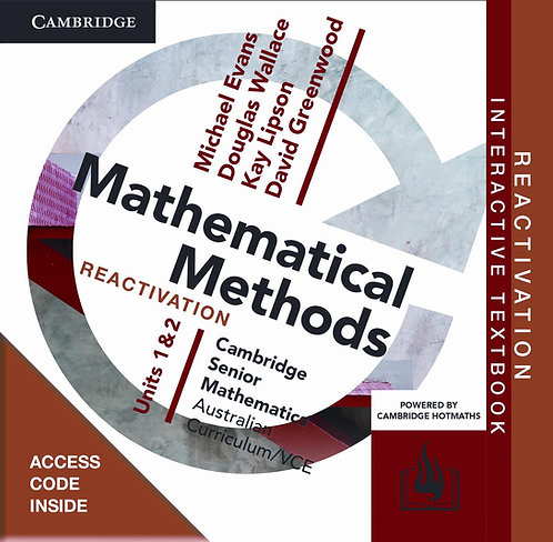 Cambridge Senior Maths: VCE Mathematical Methods Units 1&2 Reactivation Code