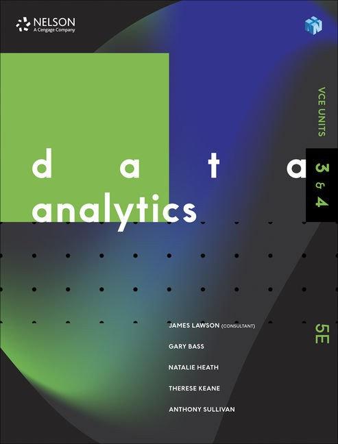 Data Analytics Units 3&4 5E