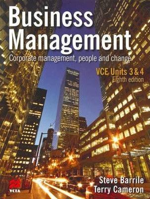 Business Management Units 3&4 VCE 8E