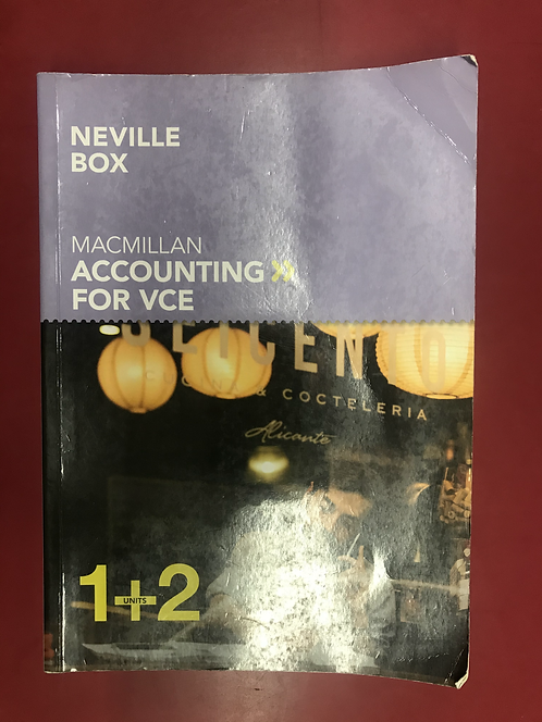 Macmillan VCE Accounting Units 1&2 6E (SECOND HAND)