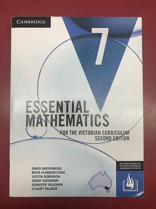 Essential Mathematics 7 Victorian Curriculum 2E (SECOND HAND)