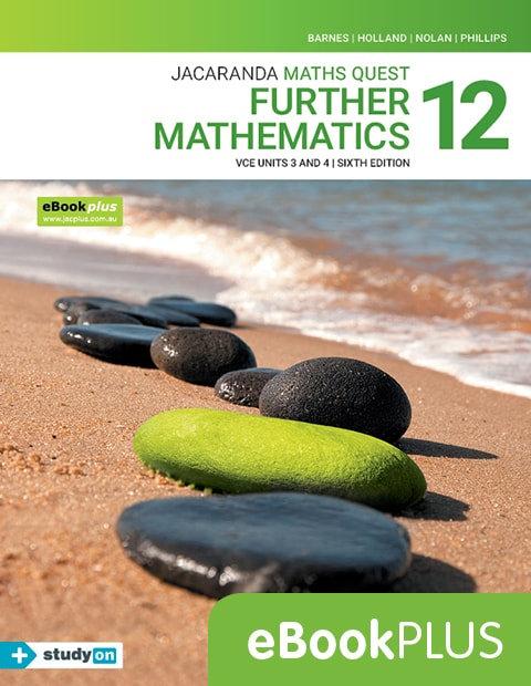 Jacaranda Maths Quest 12 Further Mathematics VCE Units 3&4 6E EbookPLUS(DIGITAL)