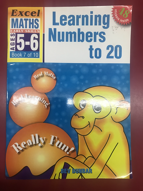 Excel Maths: Learning Numbers to 20 Workbook (SECOND HAND)