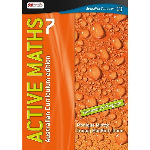 Active Maths 7 Australian Curriculum Edition Homework Program