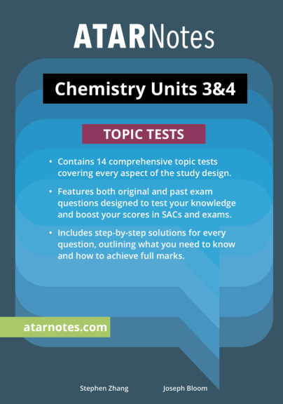 ATARNotes Chemistry Topic Tests Units 3&4