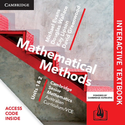 Cambridge Senior Maths: VCE Mathematical Methods Units 1&2 Interactive Text