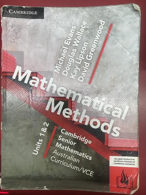 Cambridge Senior Maths: VCE Mathematical Methods Units 1&2 (SECOND HAND)